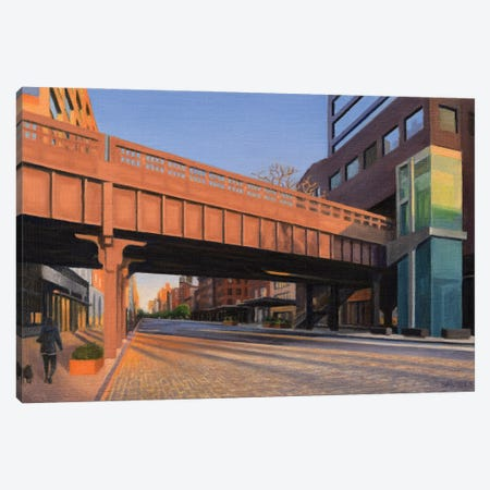 West 14th Street At Sunset Canvas Print #SVD109} by Nick Savides Canvas Wall Art
