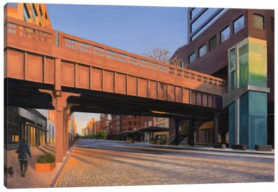 West 14th Street At Sunset Canvas Art Print