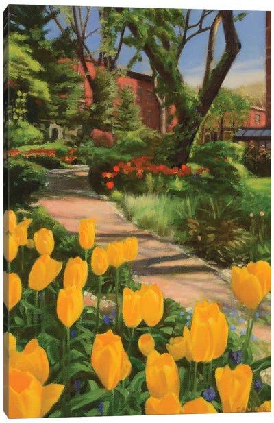 Jefferson Market Garden In Spring Canvas Art Print