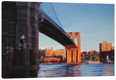 Brooklyn Bridge At Sunset II Canvas Art Print