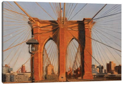 Brooklyn Bridge At Sunset IV Canvas Art Print