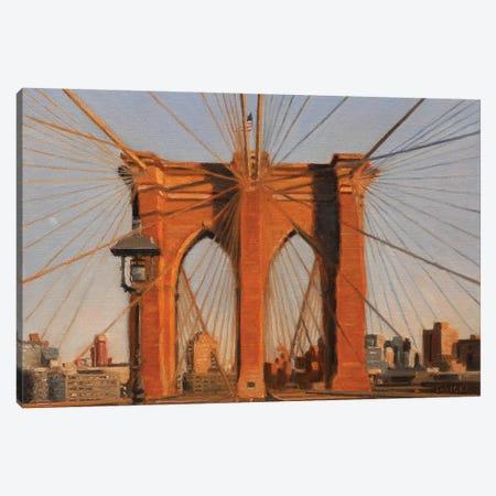 Brooklyn Bridge At Sunset IV Canvas Print #SVD14} by Nick Savides Canvas Art