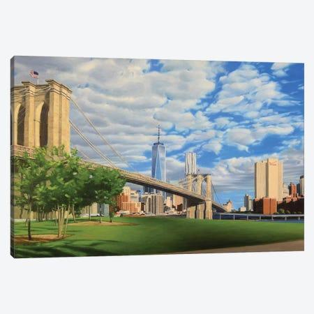 Brooklyn Bridge Park Canvas Print #SVD15} by Nick Savides Canvas Art