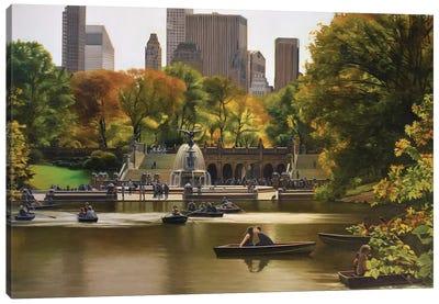 Central Park – Bethesda Terrace In Autumn Canvas Art Print