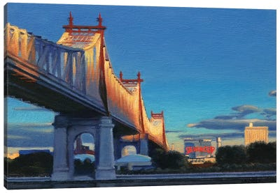 59th Street Bridge At Sunset Canvas Art Print