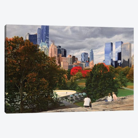 Central Park - Coming Storm Canvas Print #SVD20} by Nick Savides Canvas Wall Art
