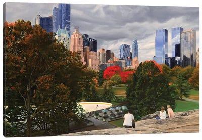 Central Park - Coming Storm Canvas Art Print