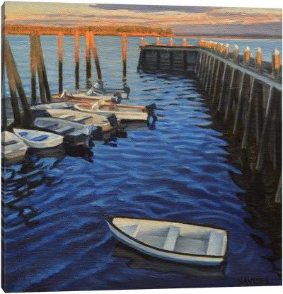 Chebeague Island Docks At Sunrise Canvas Art Print