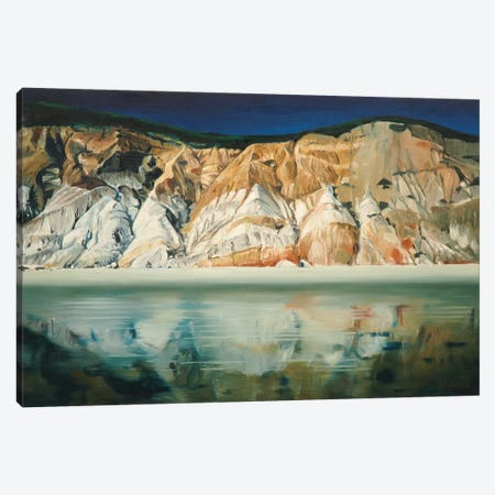 Cliffs With Reflection Canvas Print #SVD23} by Nick Savides Canvas Wall Art