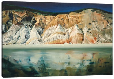 Cliffs With Reflection Canvas Art Print