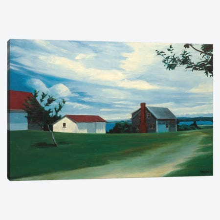 Estate Overlooking Menemsha Pond Canvas Print #SVD24} by Nick Savides Canvas Art Print