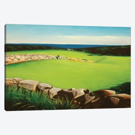Farm Along Shoreline Canvas Print #SVD25} by Nick Savides Canvas Print