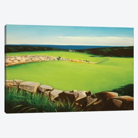 Farm Along Shoreline 3-Piece Canvas #SVD25} by Nick Savides Canvas Print