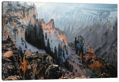 Grand Canyon Of Yellowstone At Sunrise I Canvas Art Print