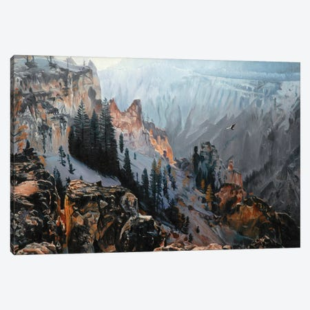 Grand Canyon Of Yellowstone At Sunrise I Canvas Print #SVD31} by Nick Savides Canvas Print