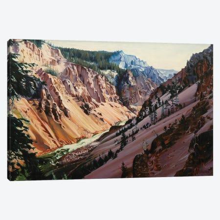Grand Canyon Of Yellowstone At Sunrise II Canvas Print #SVD32} by Nick Savides Canvas Print