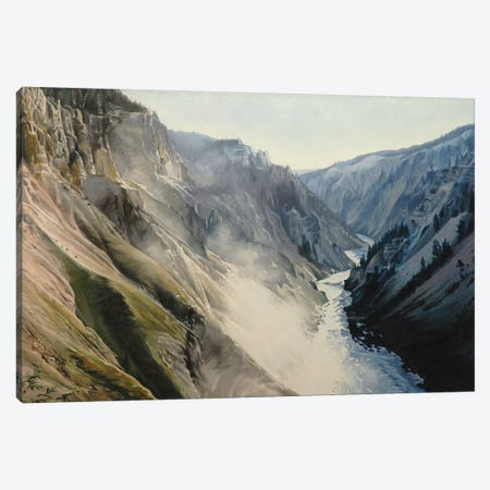 Grand Canyon Of Yellowstone At Sunrise III Canvas Print #SVD33} by Nick Savides Canvas Print