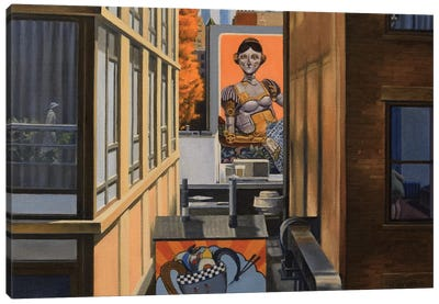 High Line View With Robot Lady Canvas Art Print