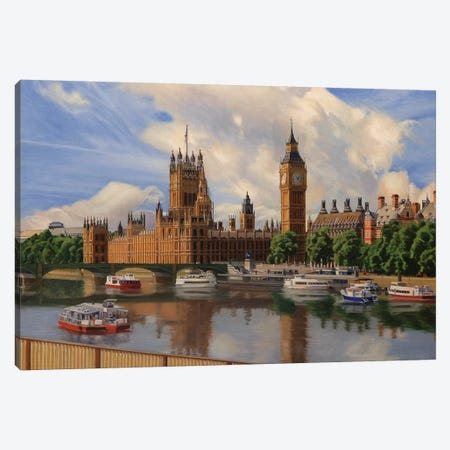 Houses Of The Parliament Canvas Print #SVD36} by Nick Savides Canvas Wall Art