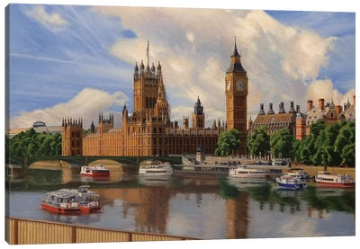 Houses Of The Parliament Canvas Art Print