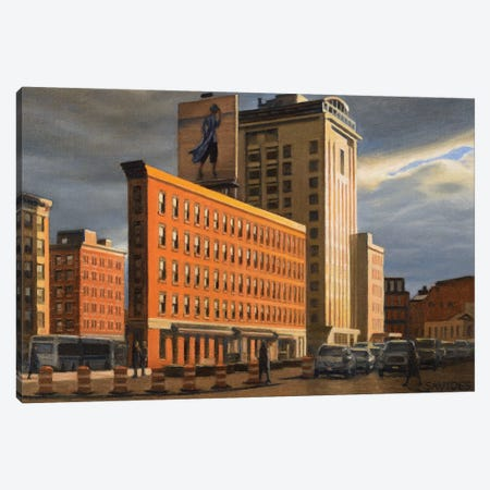 Ninth Avenue At Sunset Canvas Print #SVD52} by Nick Savides Canvas Print