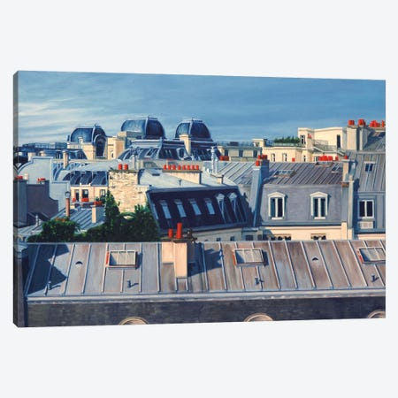 Paris Rooftops I Canvas Print #SVD56} by Nick Savides Canvas Artwork