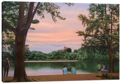 Prospect Park Lake Canvas Art Print