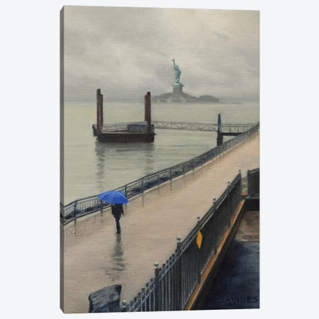 Red Hook – In The Rain Canvas Print #SVD63} by Nick Savides Canvas Wall Art