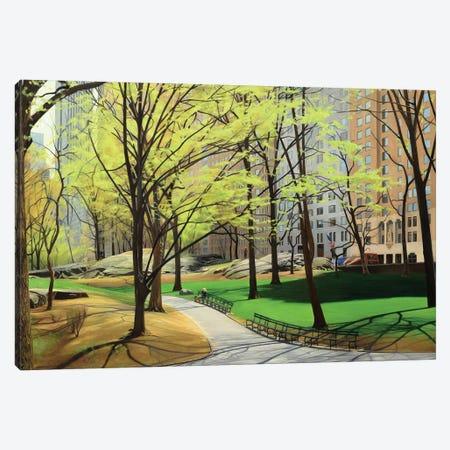 Springtime In Central Park Canvas Print #SVD68} by Nick Savides Canvas Artwork
