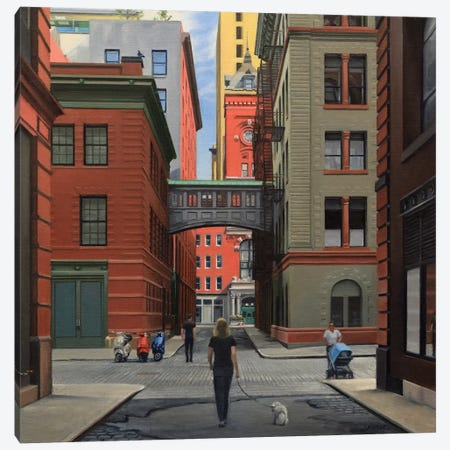 Staple Street – Looking North Canvas Print #SVD69} by Nick Savides Canvas Artwork