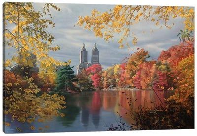 Autumn In Central Park Canvas Art Print