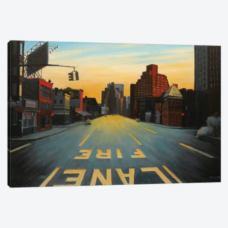 Sunrise Over Seventh Avenue Canvas Print #SVD72} by Nick Savides Art Print