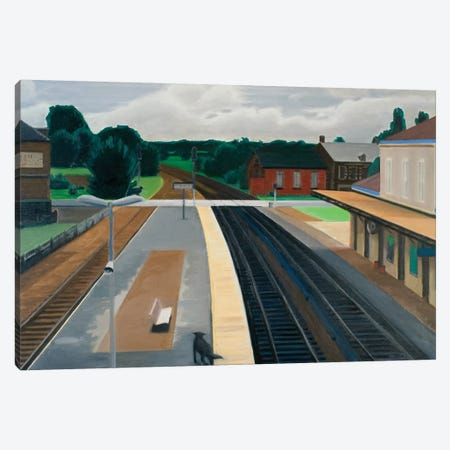 Train Station In Normandy Canvas Print #SVD80} by Nick Savides Canvas Artwork