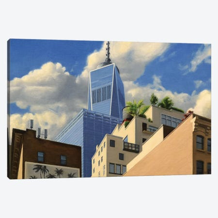 Tribeca Rooftops Canvas Print #SVD81} by Nick Savides Canvas Art