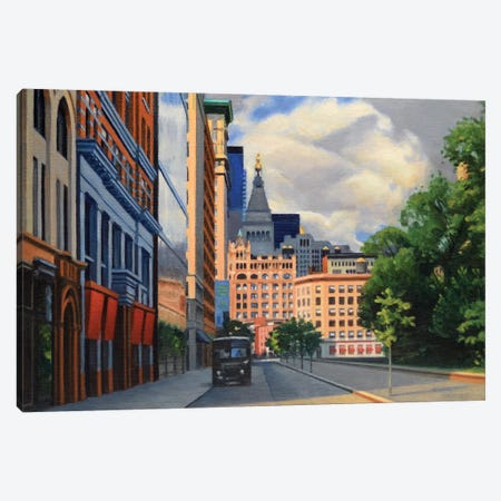 Union Square West Canvas Print #SVD85} by Nick Savides Art Print