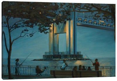 Verrazano Bridge At Dusk Canvas Art Print