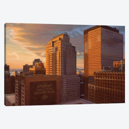 View From City Hall At Sunset Canvas Print #SVD87} by Nick Savides Art Print