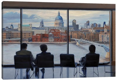 View From Tate Modern Canvas Art Print