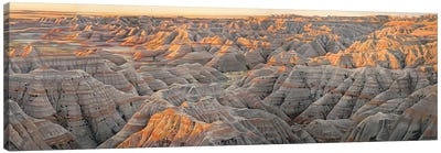 Badlands (The Wall) At Sunrise Canvas Art Print