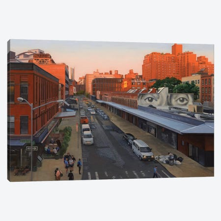 View From The High Line At Sunset – Gansevoort Street Canvas Print #SVD90} by Nick Savides Canvas Art Print