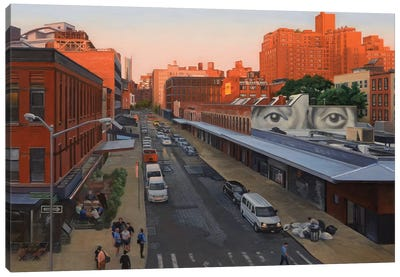 View From The High Line At Sunset – Gansevoort Street Canvas Art Print