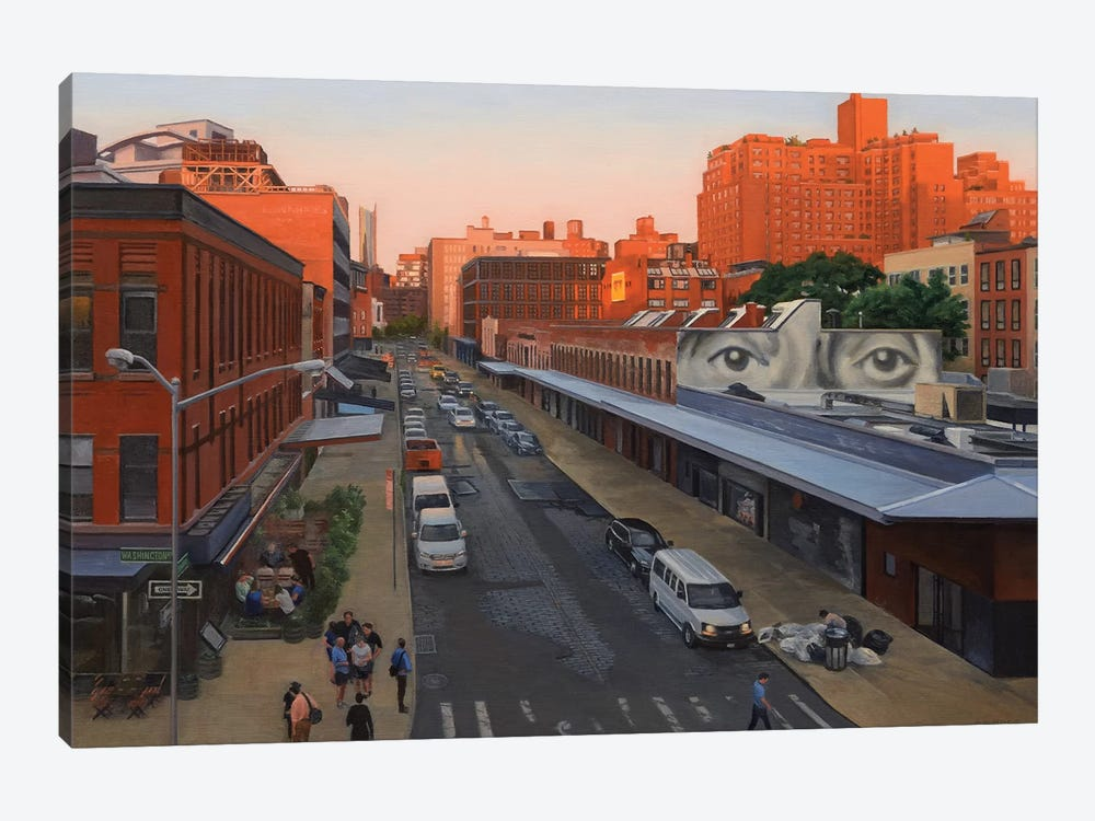 View From The High Line At Sunset – Gansevoort Street by Nick Savides 1-piece Canvas Art