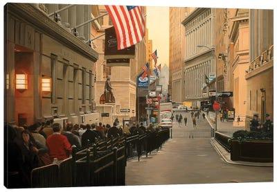 Wall Street, Early Morning Canvas Art Print