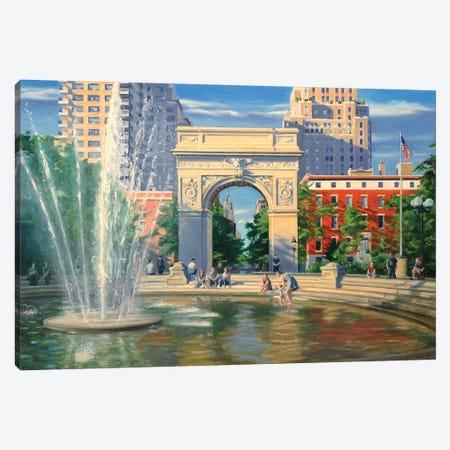 Washington Square Canvas Print #SVD93} by Nick Savides Canvas Print