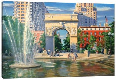 Washington Square Canvas Art Print