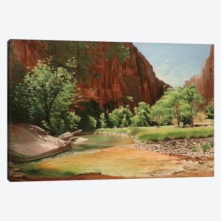 Zion - Along The North Fork Virgin River Canvas Print #SVD96} by Nick Savides Canvas Artwork