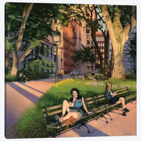 Washington Square Park - Summer Evening Canvas Print #SVD97} by Nick Savides Canvas Wall Art