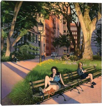 Washington Square Park - Summer Evening Canvas Art Print