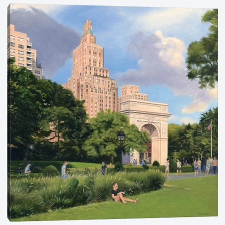 Washington Square Park - Summer Afternoon Canvas Print #SVD99} by Nick Savides Canvas Print