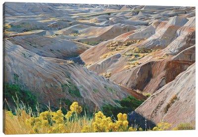 Badlands At Sunset Canvas Art Print